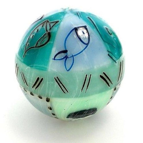 Hand-Painted Ball Candle - Samaki Design Handmade and Fair Trade