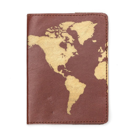Globetrotter Leather Passport Cover - Brown - Matr Boomie (PC)