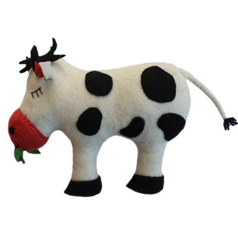 Felted Friend Cow Design -