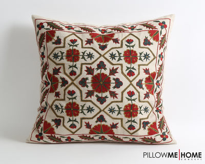 Savanna embroidery suzani pillow cover - pillowmehome