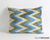 Kendall chevron ikat velvet pillow cover - pillowmehome