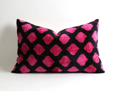 Camilla velvet ikat pillow cover - pillowme