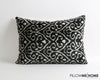 Heather silk velvet ikat pillow cover - pillowme