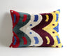 Isabela hand painted velvet ikat pillow cover - pillowme