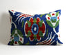 Delilah decorative velvet ikat pillow cover - pillowme