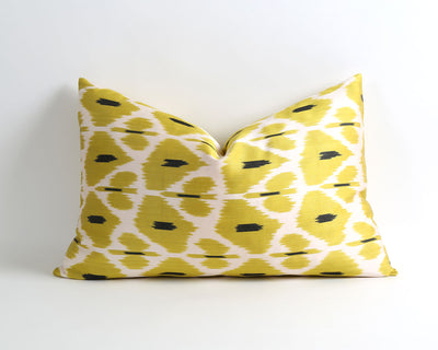Elaine green silk ikat cushion cover - pillowme