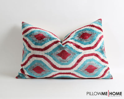 Kaila hand dyed velvet ikat pillow cover - pillowmehome