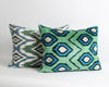 Jordin green velvet ikat pillow cover - pillowmehome