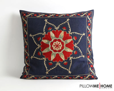 Emilie embroidery suzani pillow cover - pillowme