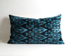 Saige blue ikat velvet pillow cover - pillowmehome
