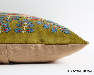 Caitlyn green suzani pillow cover - pillowme