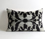 Meadow gray velvet ikat cushion cover - pillowmehome
