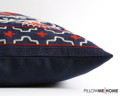 Miah handmade suzani cushion cover - pillowmehome