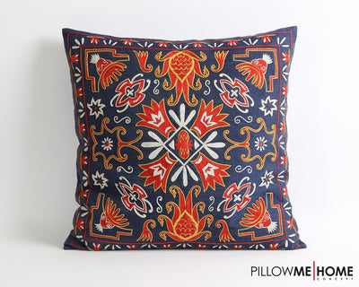Marina silk suzani pillow cover - pillowmehome