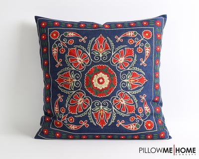 Elizabeth hand embroidery suzani pillow cover - pillowme