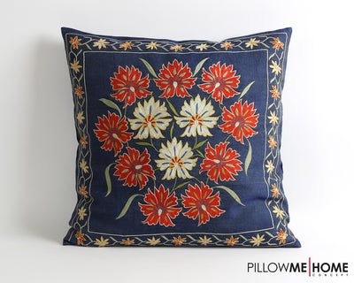 Emery floral embroidery suzani pillow cover - pillowme