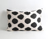 Shayna black ikat cushion cover - pillowmehome