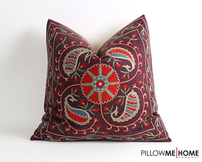 Vanessa hand embroidery suzani pillow cover - pillowmehome