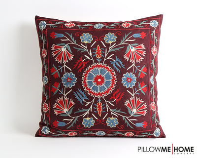Lacey embroidery suzani pillow cover - pillowmehome