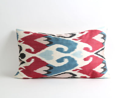 Daisy silk ikat throw pillow cover - pillowme