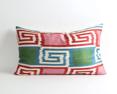 Vicky silk ikat throw pillow cover