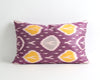 Donna handwoven purple ikat cushion cover - pillowme