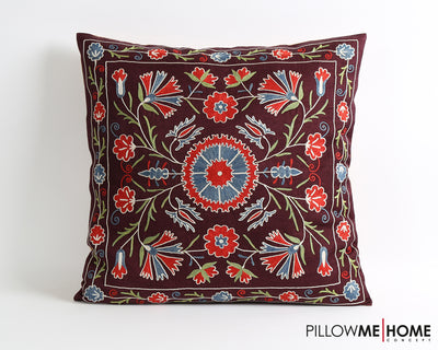 Cierra embroidered suzani pillow cover - pillowme