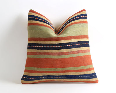 Jacquelyn striped kilim pillow cover - pillowme
