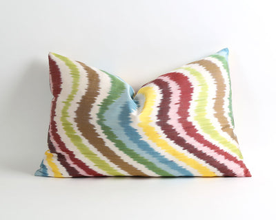 Nina handwoven silk ikat pillow cover
