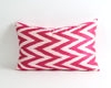 Nora handwoven pink silk ikat pillow cover