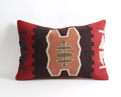 Antonia boho lumbar kilim pillow cover - pillowme