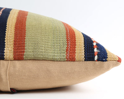 Virginia striped vintage kilim cushion cover