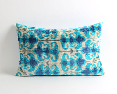 Elena decorative velvet ikat pillow cover - pillowme
