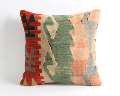 Laurel tribal eclectic kilim pillow cover - pillowmehome