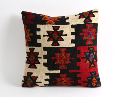 Ebony kilim pillow cover - pillowme