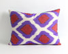 Beatrice purple green velvet ikat pillow cover - pillowme
