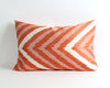 Nicole orange ikat cushion cover
