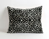 Daniella black & white ikat velvet pillow cover - pillowme