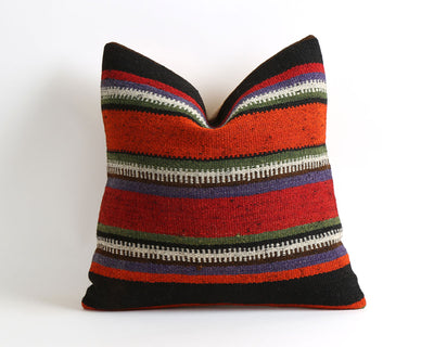 Tracy striped kilim pillow cover