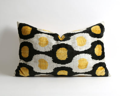 Haley ikat velvet couch pillow cover - pillowme
