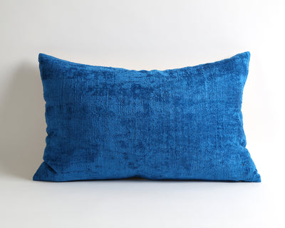 Nola blue decorative velvet ikat pillow cover - pillowmehome