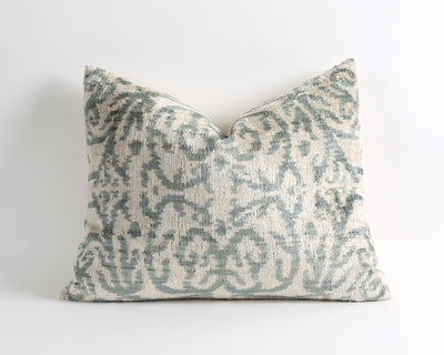 Casey ikat velvet pillow cover - pillowme