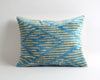 Melany blue velvet ikat pillow cover - pillowmehome