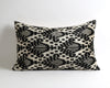 Elsie black ikat velvet decorative pillow cover - pillowme