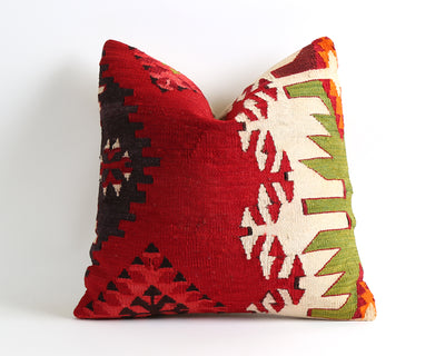 Sonya red kilim pillow cover