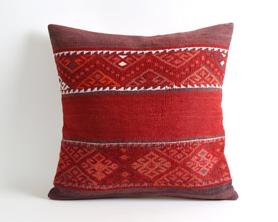 Laverne vintage red kilim pillow cover