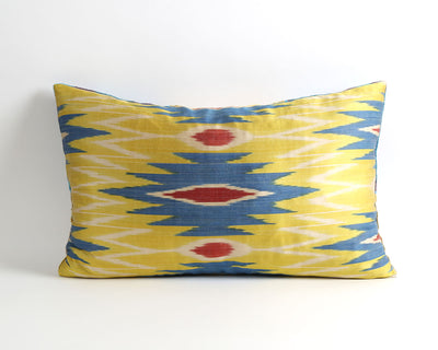 Raquel patchwork velvet ikat pillow cover