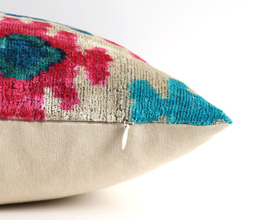 Cassandra ikat velvet pillow cover - pillowme