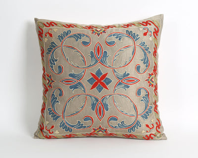 Josephine hand embroidery silk suzani pillow cover