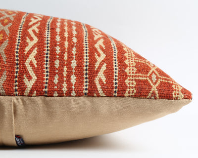 Lillie striped kilim pillow cover